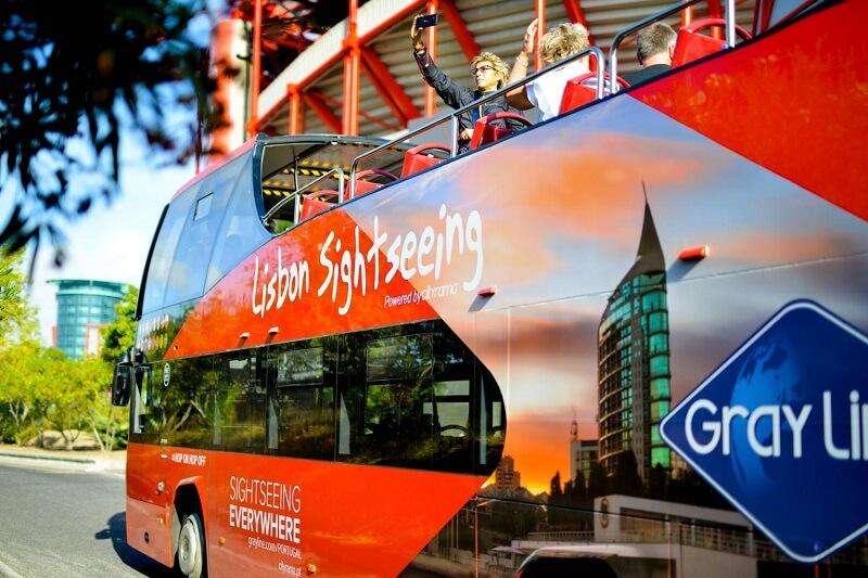 Passeio no ônibus Lisboa Sightseeing
