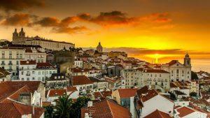 Vista de Lisboa ao amanhecer