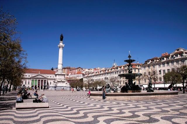 Praça do Rossio e Dom Pedro IV em Lisboa