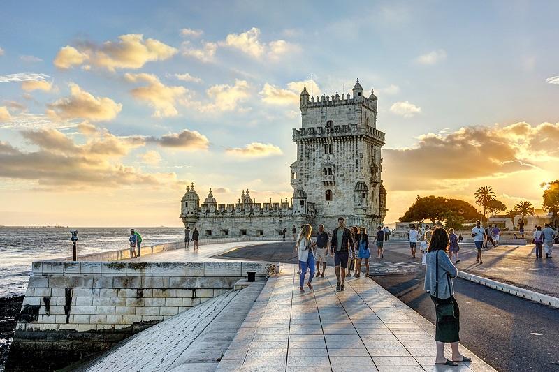 Exterior da Torre de Belém em Lisboa