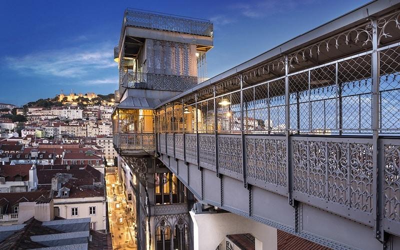 Elevadoro Santa Justa em Lisboa