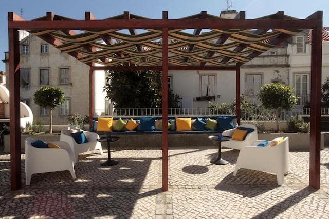 Hotel Alfama Terrace em Lisboa - terraço