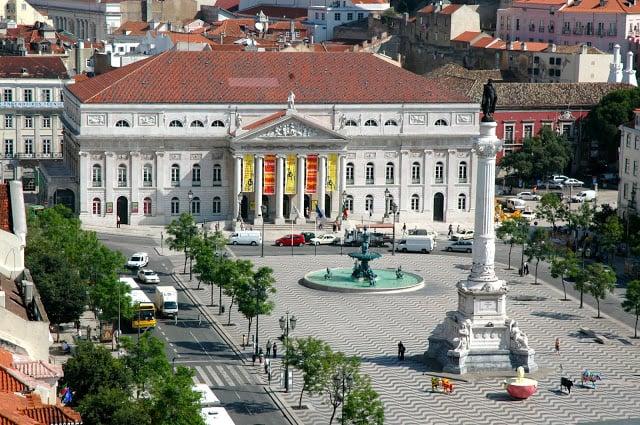 Praça do Rossio em Lisboa