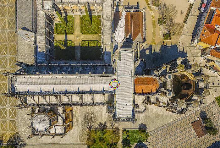Vista aérea do Mosteiro da Batalha