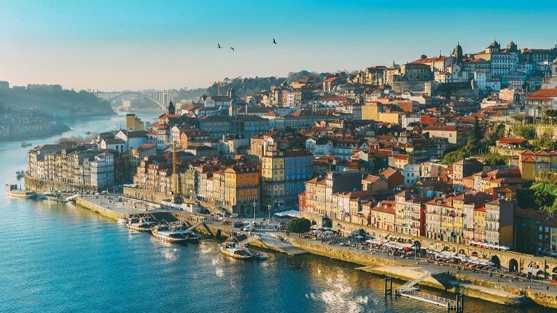 Vista aérea do Porto, Portugal