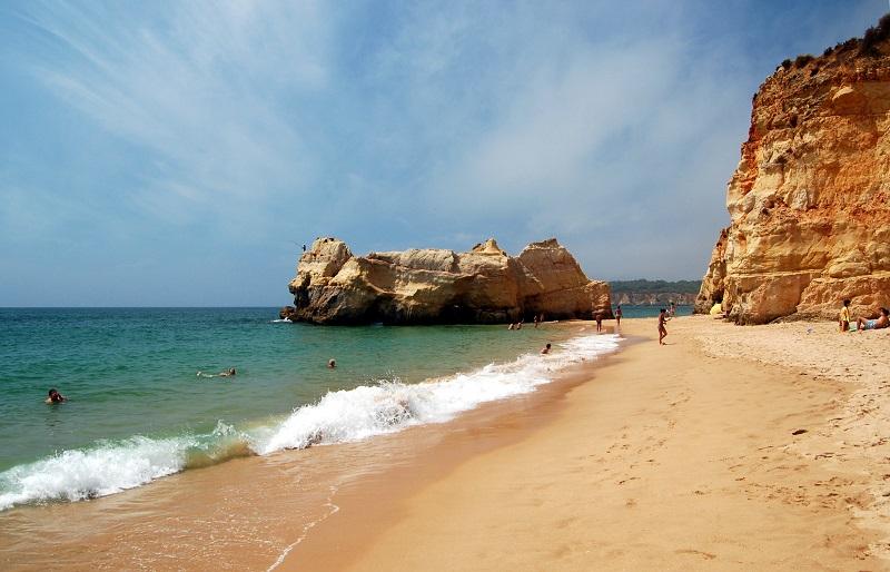 Praia da Rocha no Algarve