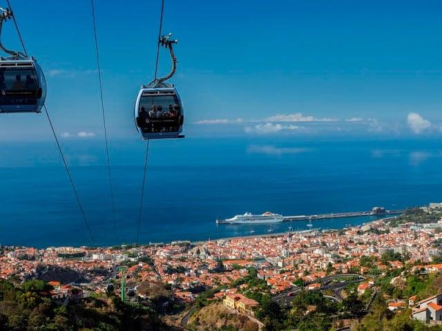 Teleférico do Monte na Ilha da Madeira