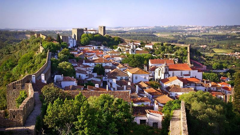 Vista aérea de Óbidos