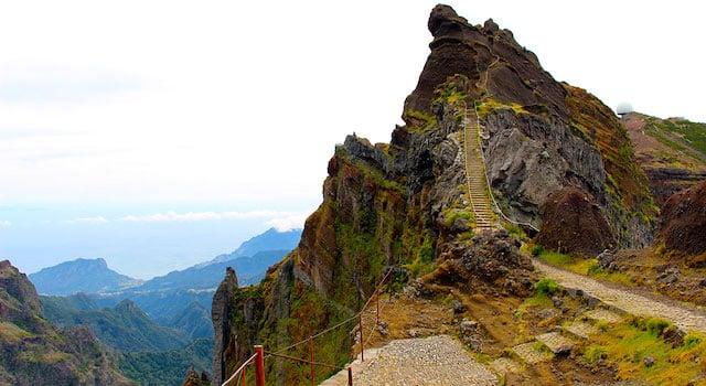 Pico do Areeiro na Ilha da Madeira
