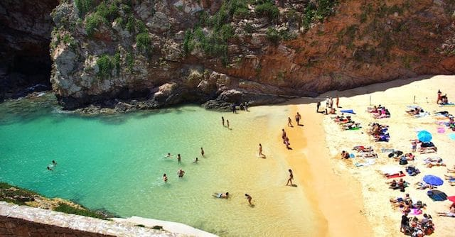 Banho de praia no Algarve
