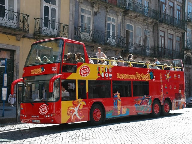Ônibus da City Sightseeing Porto