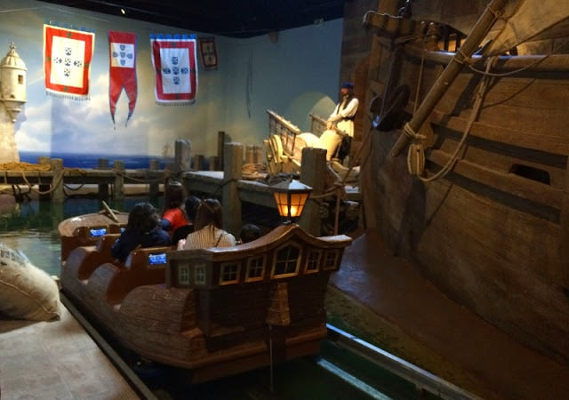 Passeio de barco no museu