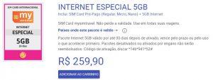 INTERNET ESPECIAL 5GB