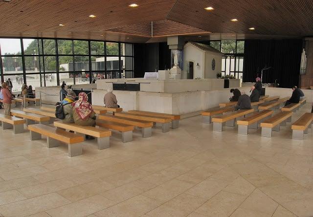 Interior da Capela das Aparições em Fátima
