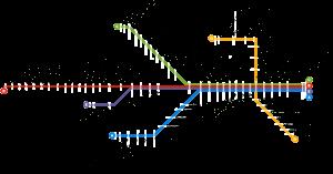 Mapa do metrô do Porto