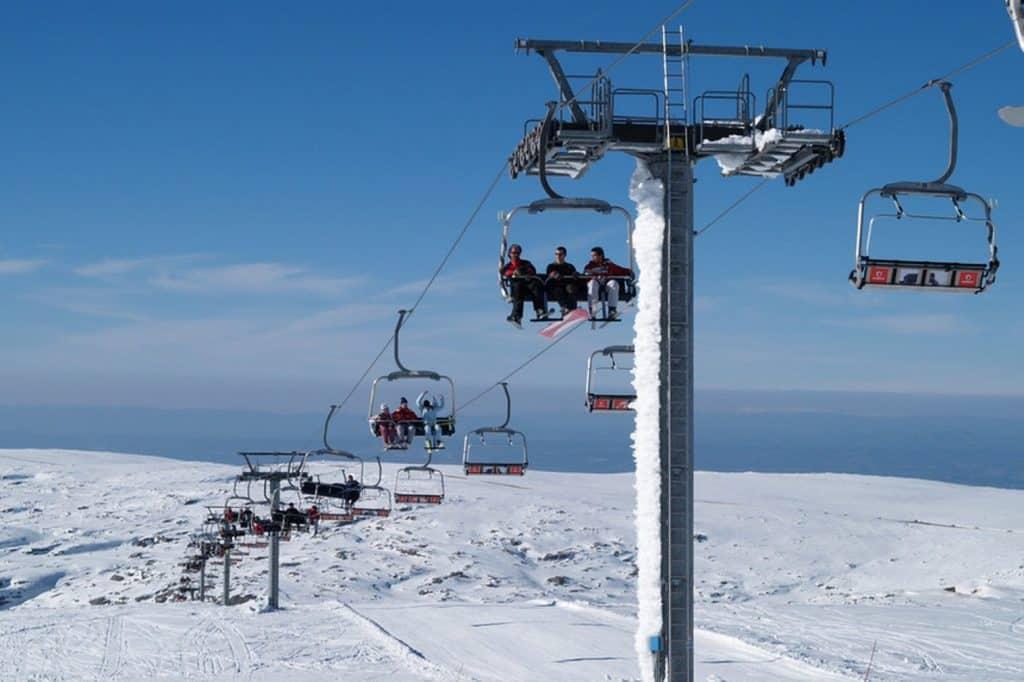 Teleférico da Serra da Estrela no inverno
