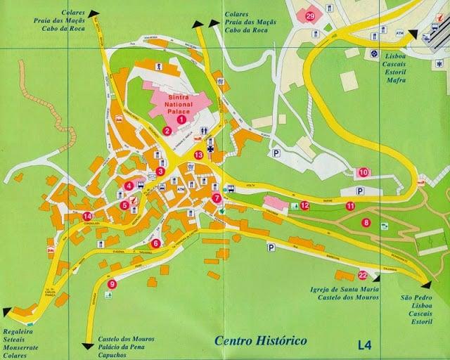 Mapa turístico de Sintra