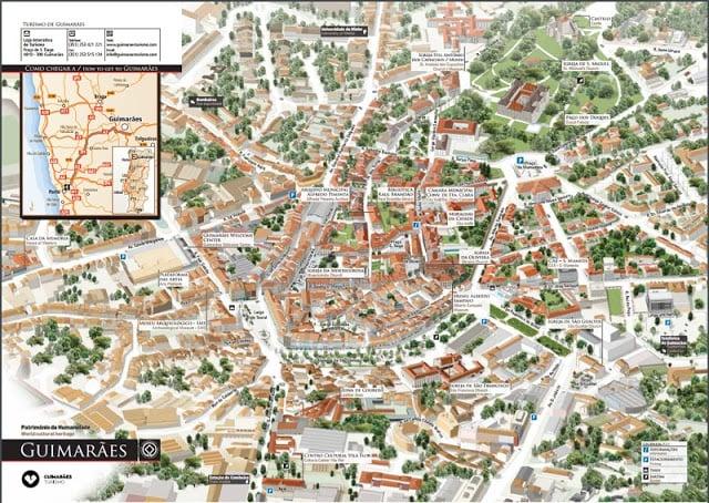 Mapa turístico de Guimarães