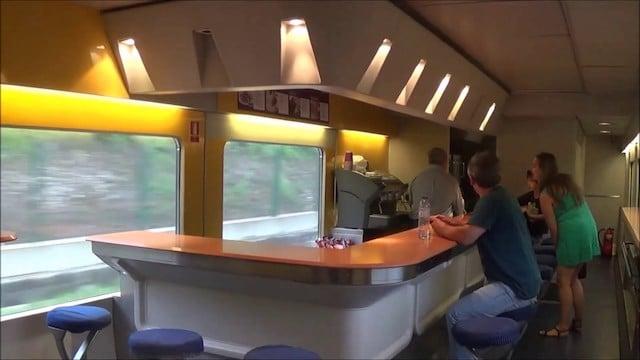 Trem de Lisboa a Salamanca - Cafeteria