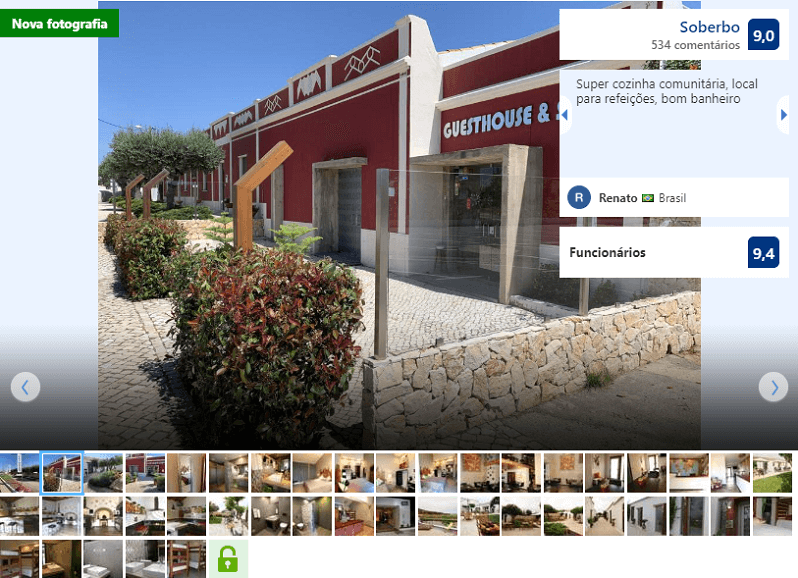 Fachada do hostel Lost & Found em Albufeira