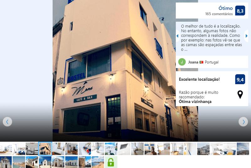 Fachada do hostel Rich & Poor em Albufeira