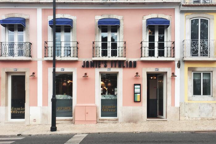 Fachada do Jamie's Italian em Lisboa