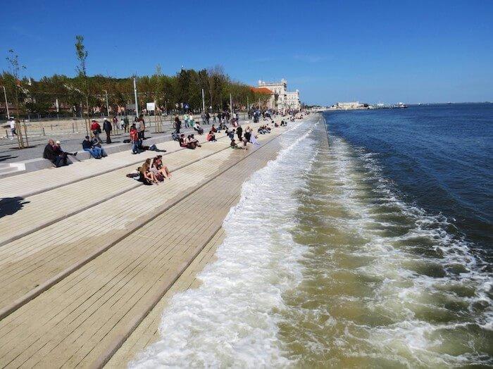 Praia fluvial Ribeira das Naus em Lisboa