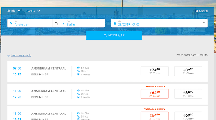 Onde comprar passagens de trem para Europa