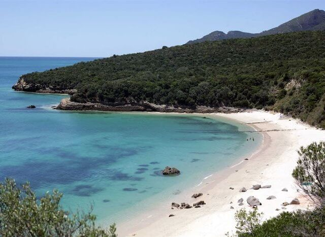 Praia de Galapinhos em Setúbal