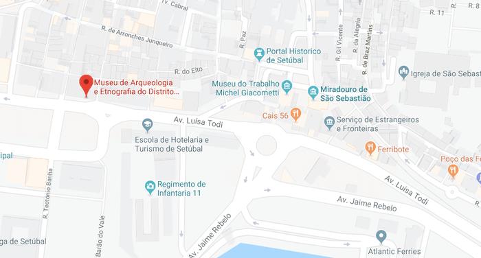 Mapa do Museu MAEDS em Setúbal