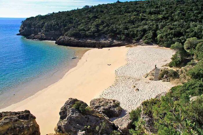Praia dos Coelhos em Setúbal