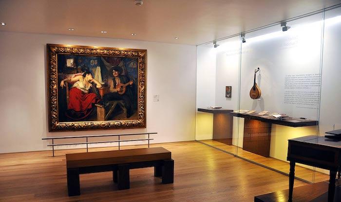 Museu do Fado em Lisboa - sala de exposição