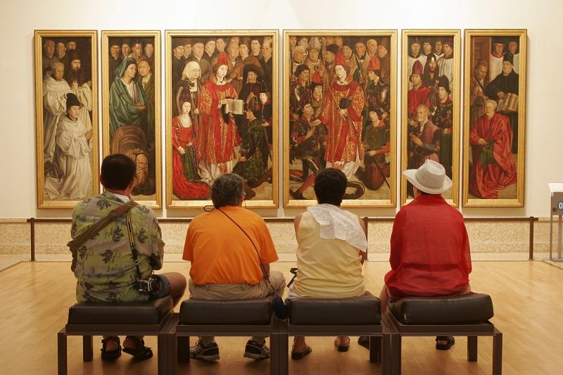 Visitantes no Museu de Arte Antiga