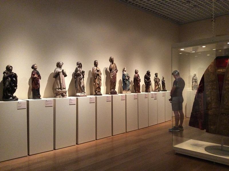 Esculturas religiosas expostas no Museu de Arte Antiga
