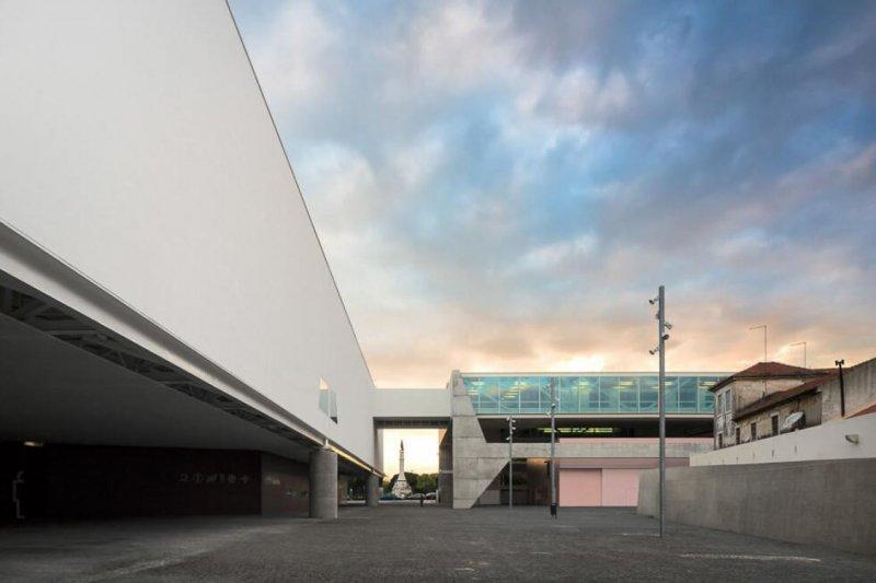 Estrutura do novo edifício do Museu dos Coches em Lisboa