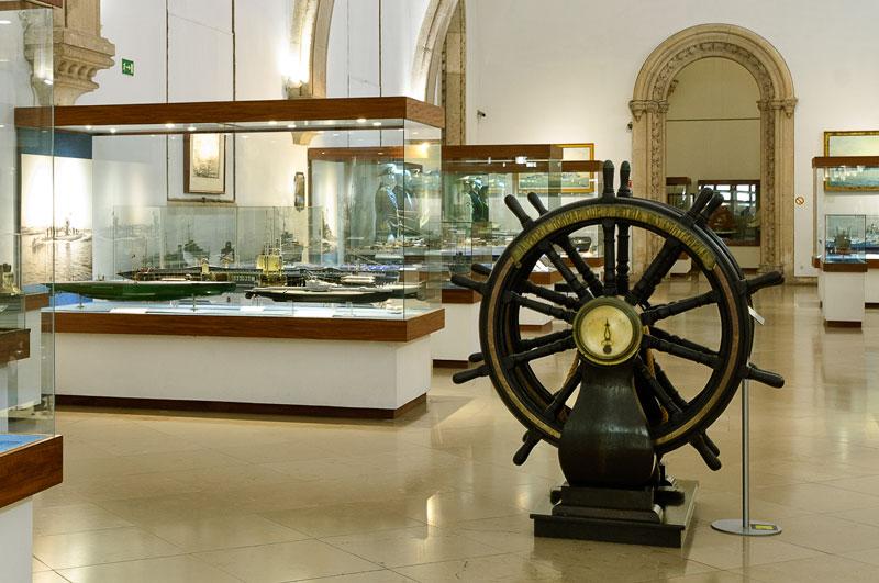 Itens expostos no Museu da Marinha em Lisboa