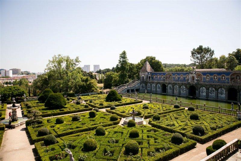 Jardim do Palácio dos Marqueses da Fronteira em Lisboa