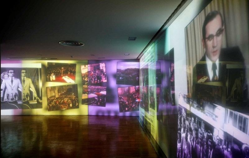 Interior do NewsMuseum em Sintra
