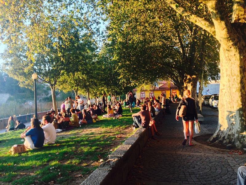 Jardim do Porto no verão