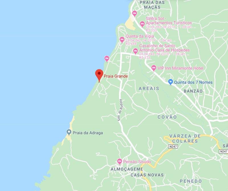 Mapa de Praia Grande em Sintra