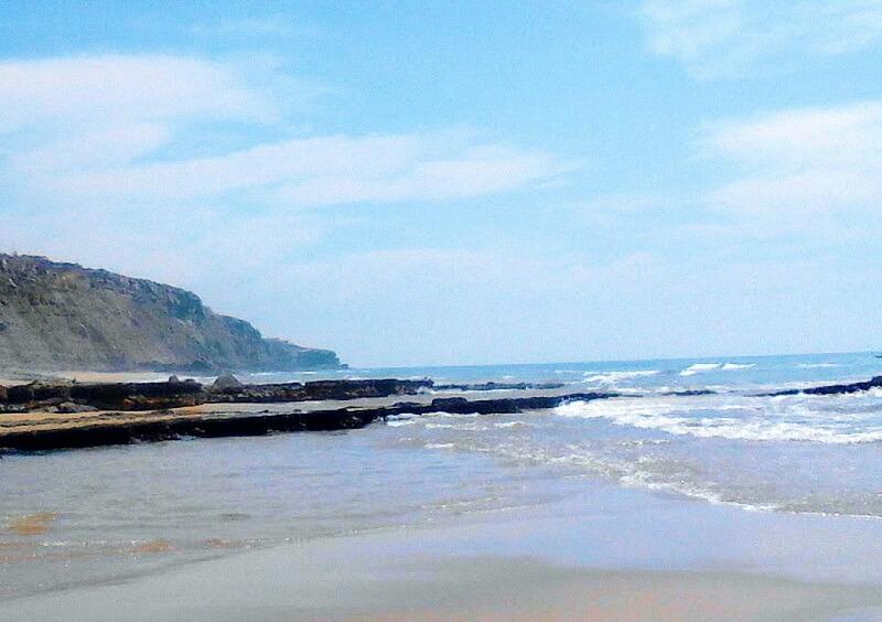 Mar da Praia da Aguda em Sintra