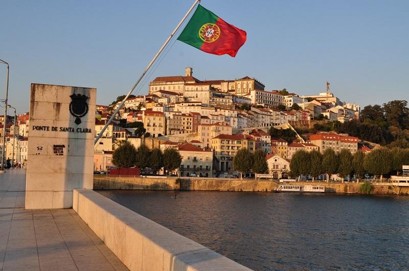 Bandeira de Portugal em Coimbra