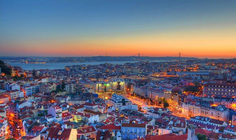 Vista de Lisboa no final da tarde