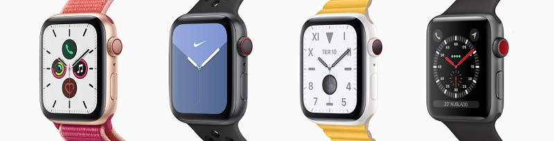Apple Watches de diferentes séries