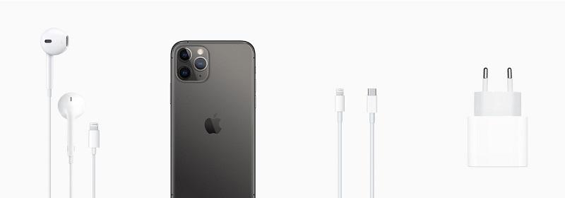 iPhone 11 Pro Max e acessórios de caixa