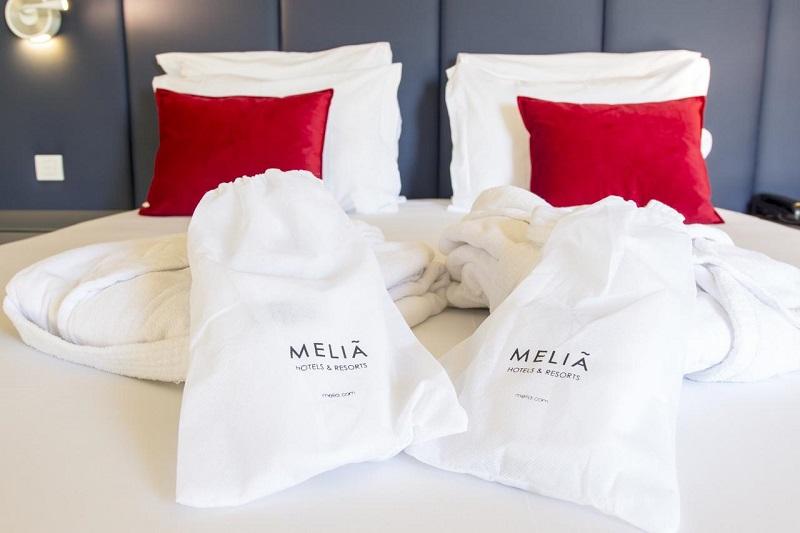 Amenidades de cortesia do hotel Meliã em Setúbal