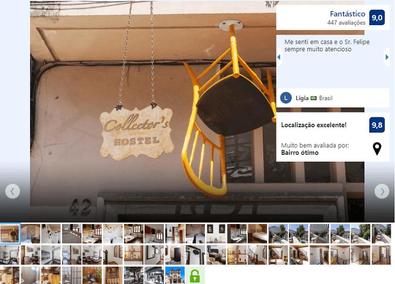 Recepção no Collector's Hostel