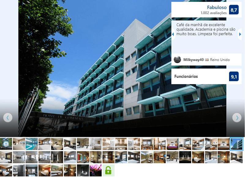 Fachada do Hotel de Guimarães