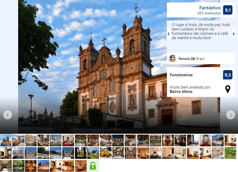 Fachada da Pousada Mosteiro de Guimarães