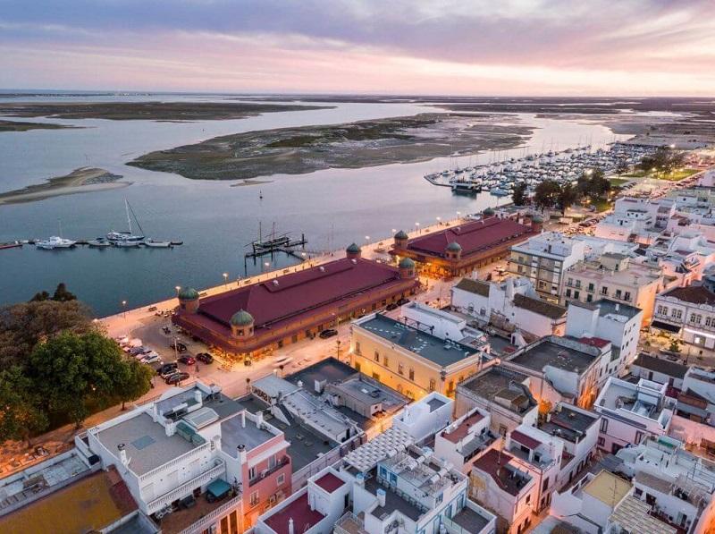 Cidade de Olhão no Algarve